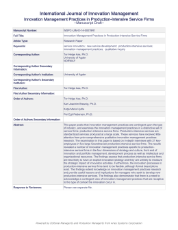 international journal of innovation management pdf