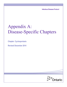 Appendix A: Disease-Specific Chapters - Chapter