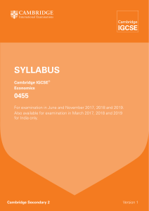 SyllabuS - Cambridge International Examinations