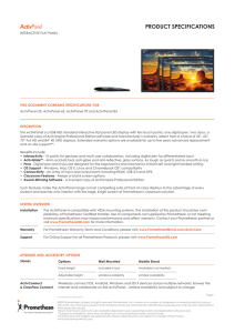ActivPanel 3 with Digital Pen Specification Sheet