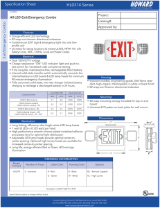 Spec Sheet - Howard Lighting
