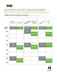 Low Profile 2x2, 2x4 and 1x4 Architectural Baskets