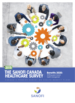 The Sanofi Canada Healthcare Survey 2015