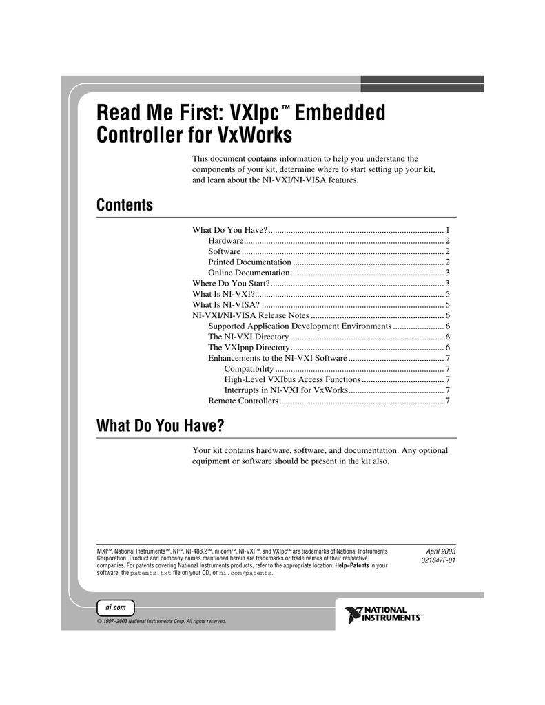 VXIpc Embedded Controller for VxWorks