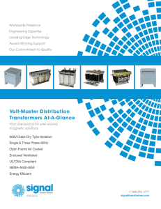 Volt-Master Distribution Transformers At-A-Glance