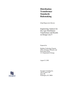Engineering Analysis for Dry-type Distribution Transformers and