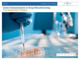 Cross-Contamination in Drug Manufacturing: The