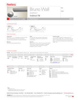 BRW1 Bruno Wall Indirect T8 Spec Sheet