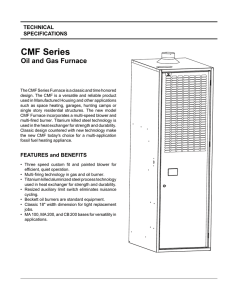 CMF Series Oil and Gas Downflow Furnaces