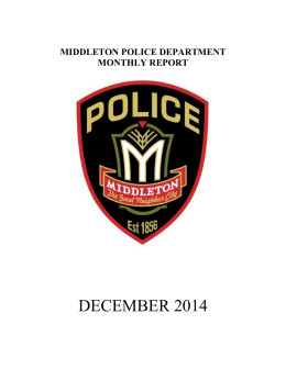 December - City of Middleton