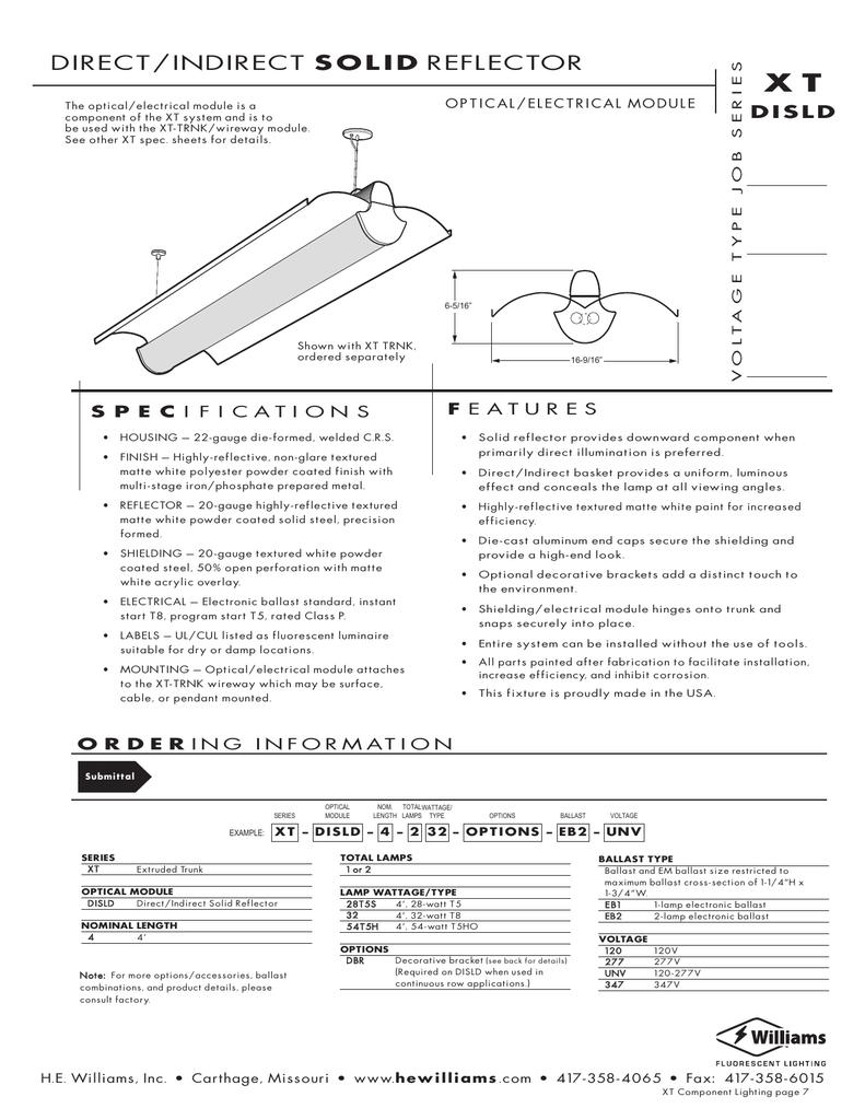 Direct Indirect Solid Reflector Programmed Start Ballast Wiring Diagram