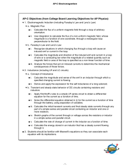 AP-C Objectives (from College Board Learning