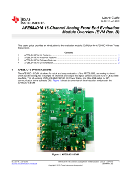 AFE58JD16 16-Channel Analog Front