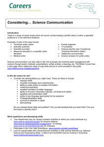 Considering… Science Communication