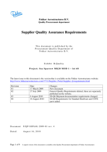 Supplier Quality Assurance Requirements