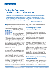 Closing the Gap through Extended Learning Opportunities