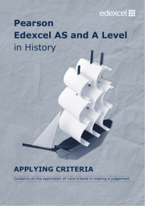 Applying Criteria - Edexcel