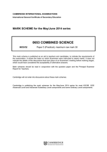 June 2014 Mark scheme 52 - Cambridge International Examinations