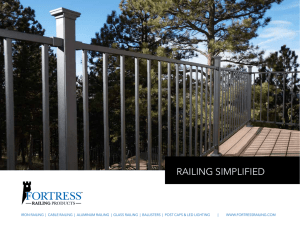 Catalog - Fortress Railing Products