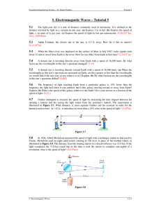 5. Electromagnetic Waves – Tutorial 5