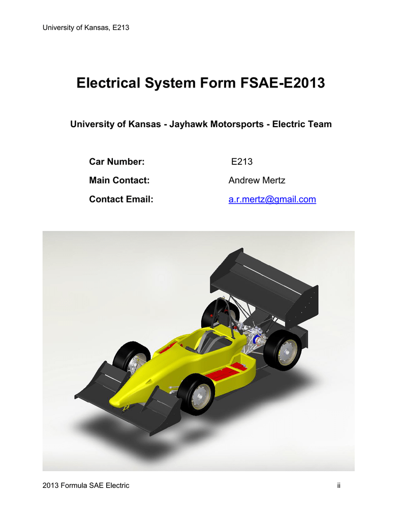 Electrical System Form Fsae Here Is A Conceptual Diagram Of Wiring An Interlocked Switches