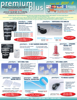 issue 28 2011-2 issue 28 2011-2 - Premium Plus Dental Supplies Inc.
