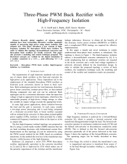 Three-Phase PWM Buck Rectifier with High-Frequency