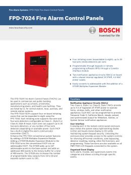 Fpd-7024 family fire alarm control panels | manualzz. Com.
