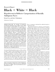 Black + White = Black - Department of Psychology