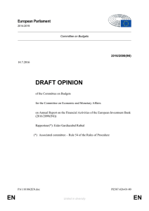 EN EN DRAFT OPINION - European Parliament