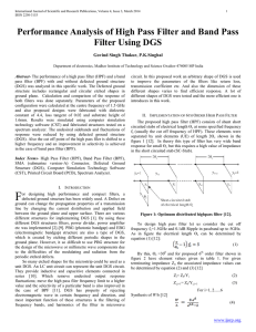 Performance Analysis of High Pass Filter and Band Pass Filter