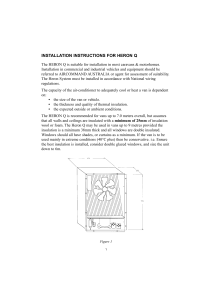 INSTALLATION INSTRUCTIONS FOR HERON Q