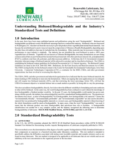 Understanding Biobased/Biodegradable and the Industry`s