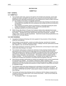 14002 01300 - 1 SECTION 01300 SUBMITTALS PART 1 GENERAL