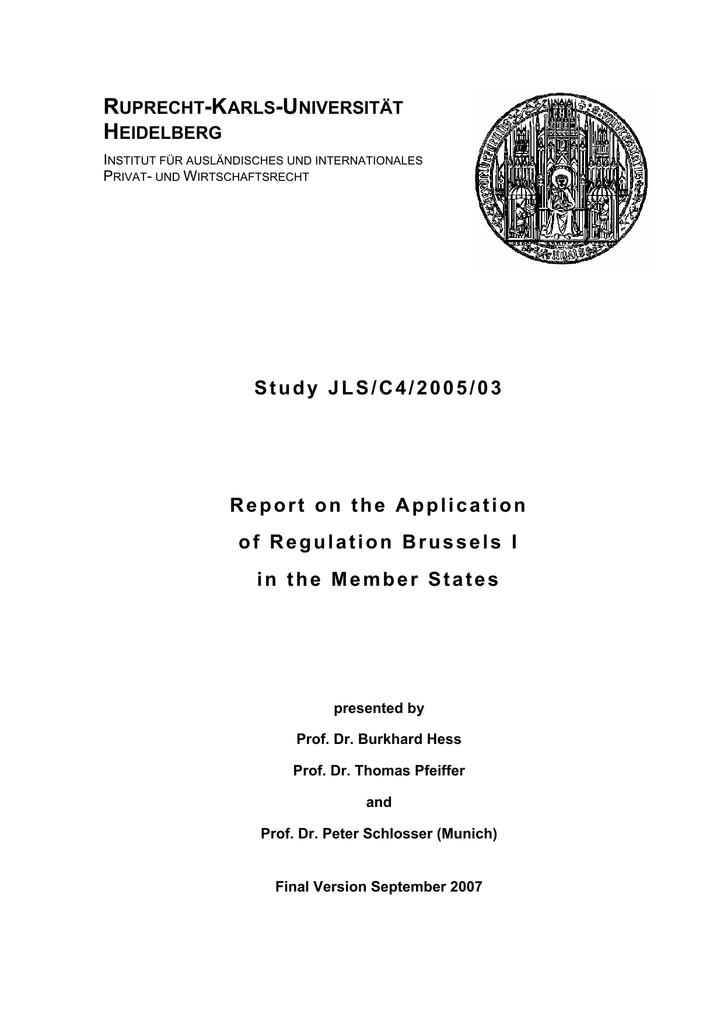 General Report Study JLS/C4/2005/03