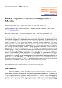 Effect of Temperature on Electrochemical Degradation of Polyaniline