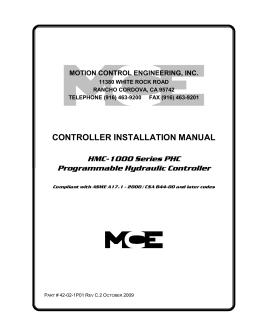HMC-PHC Hydraulic (ASME 2000), 42-02-1P01 C2
