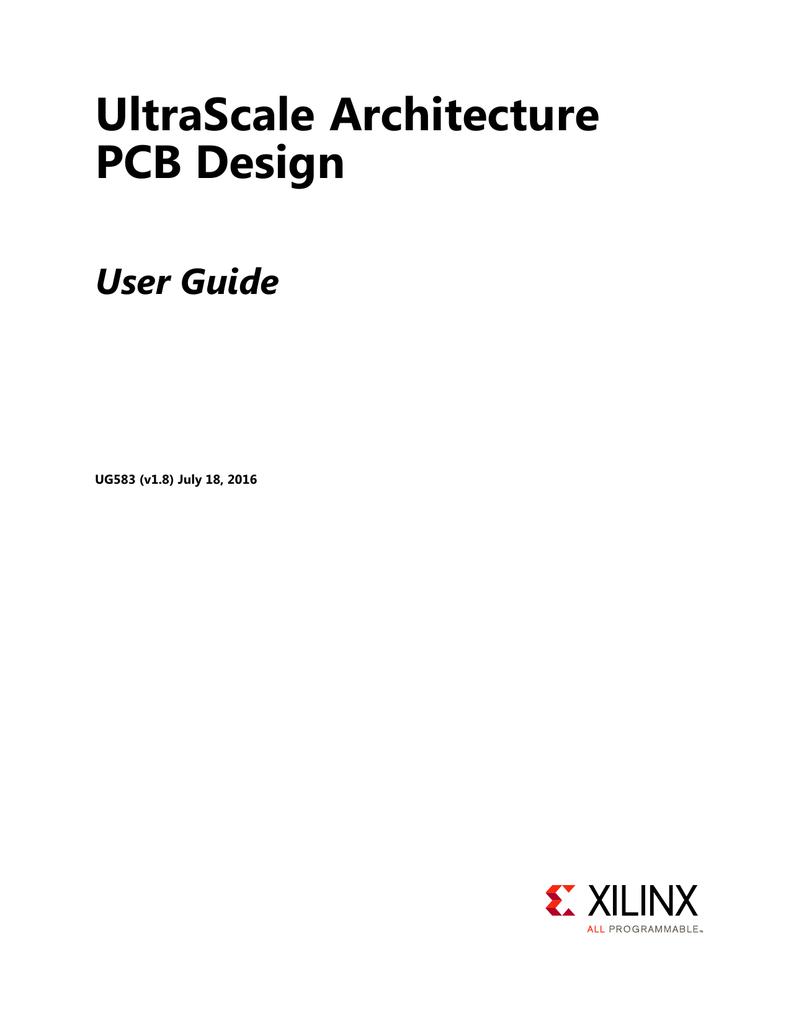 Ultrascale Architecture Pcb Design User Guide Ug583 Board Pcbhigh Tg Circuit Makermultilayer