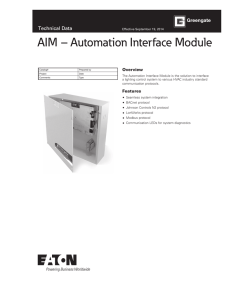 AIM – Automation Interface Module