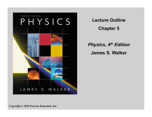 Lecture Outline Chapter 5 Physics, 4th Edition James S. Walker