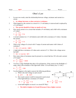 Worksheets Ohms Law Worksheet ohms law worksheet key northern highlands