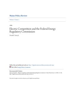 Electric Competition and the Federal Energy Regulatory Commission