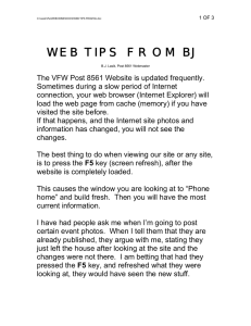 WEB TIPS FROM BJ
