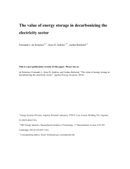 The value of energy storage in decarbonizing the electricity