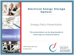 Electrical Energy Storage Options