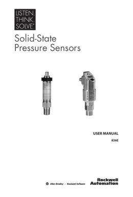 Solid-State Pressure Sensors User Manual