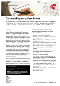 Conformity Requirement Specification