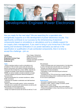 Development Engineer Power Electronics