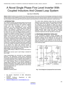 A Novel Single Phase Five Level Inverter With Coupled Inductors