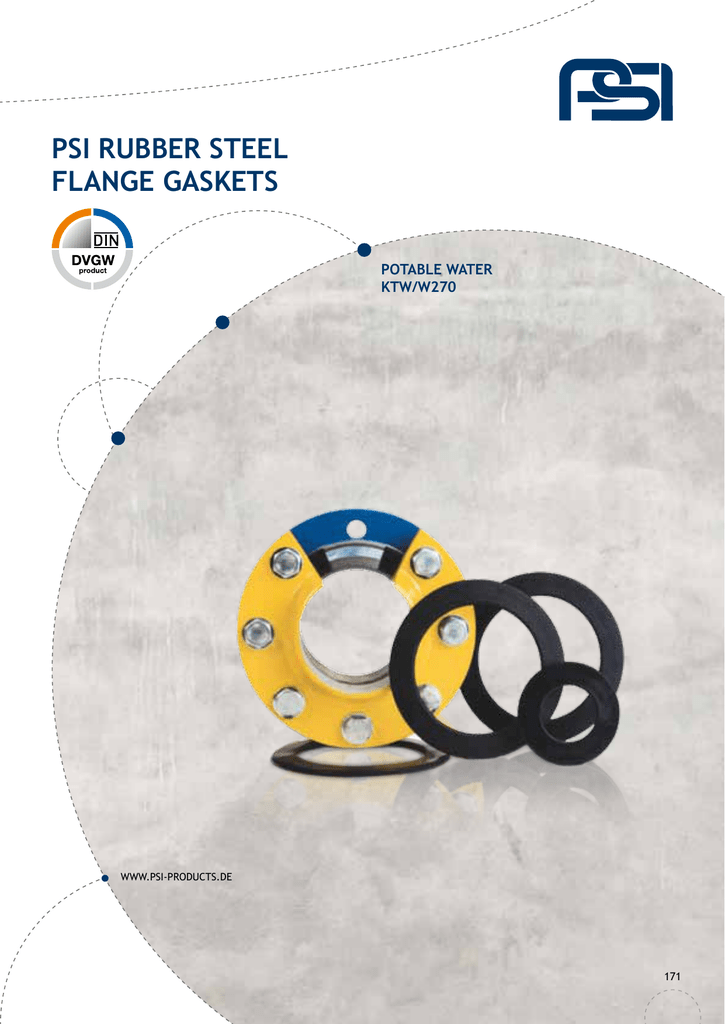 psi rubber steel flange gaskets